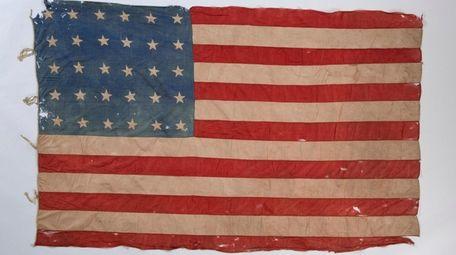 A 30-star American flag from the Civil War-era.