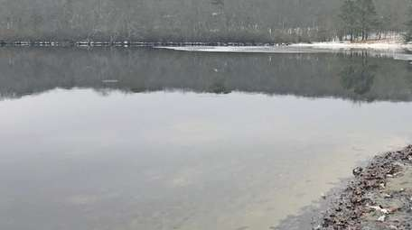 Little Fresh Pond, with the campground visible in