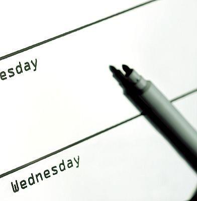 Use a calendar. Hang a calendar on your