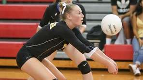 Wantagh's Grace Riddle in the second game against