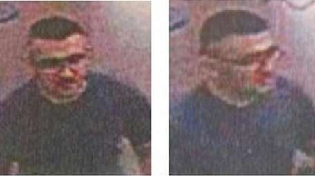 Surveillance images show the man police say they