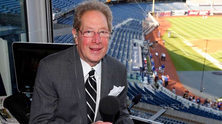 Yankees radio broadcaster John Sterling poses for a
