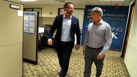 TherapeuticsMD co-founders Robert Finizio, left, and Dr. Brian