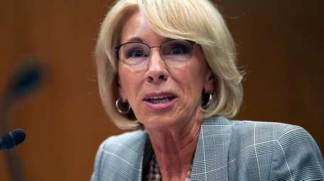 Education Secretary Betsy DeVos testifies during hearing on