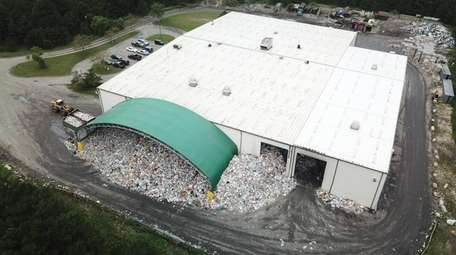 The Town of Brookhaven recycling facility in Yaphank