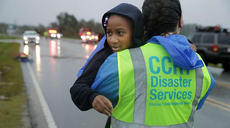 A volunteer from the Civilian Crisis Response Team