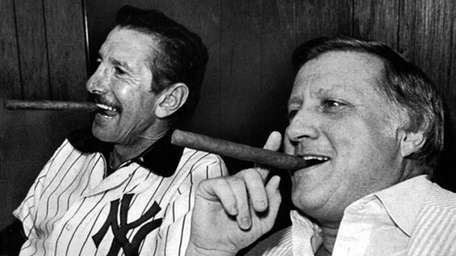 Yankees owner George Steinbrenner and manager Billy Martin,