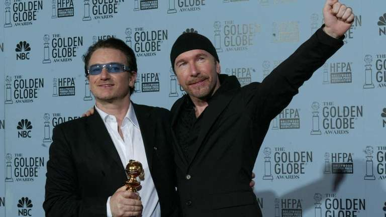 Bono and the Edge of U2 during the