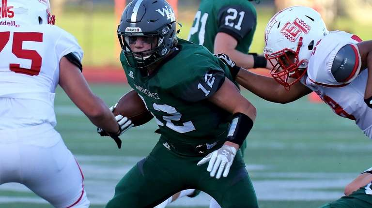 Liam McIntyre, who scored a touchdown for Westhampton,