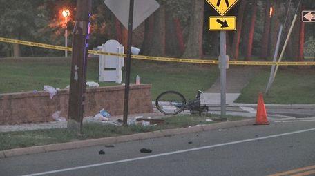 The scene of the crash in St. James