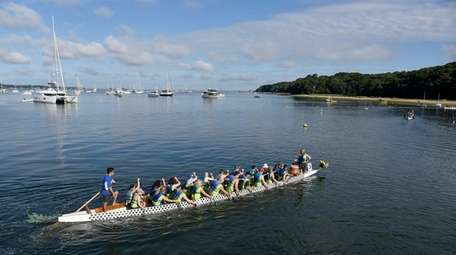 A race team in the Port Jefferson Dragon
