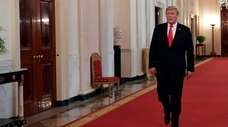 President Donald Trump at the White House on