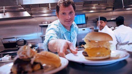 Chef Bobby Flay at his Bobby's Burger Palace