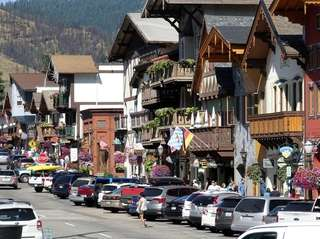 Leavenworth, Washington, is a Bavarian-themed town on the