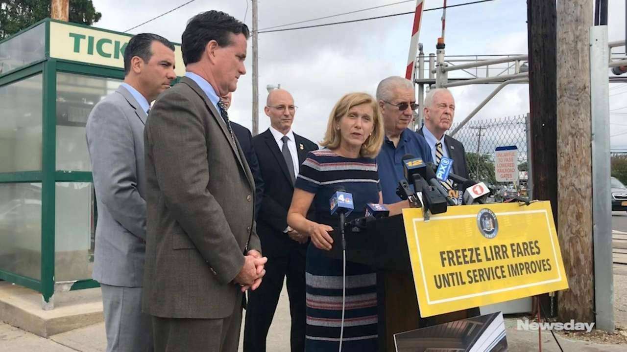Republican lawmakers gathered at the Long Island Rail