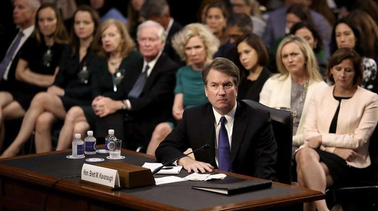 Judge Brett Kavanaugh appears before the Senate Judiciary