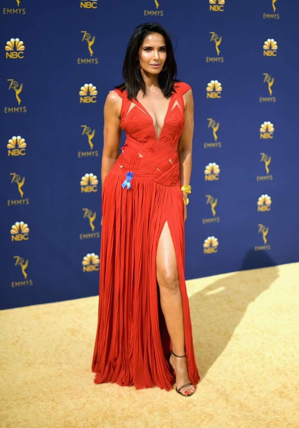 Padma Lakshmi arrives for the ceremony.