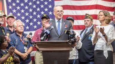 Sen. Chuck Schumer is joined by local officials