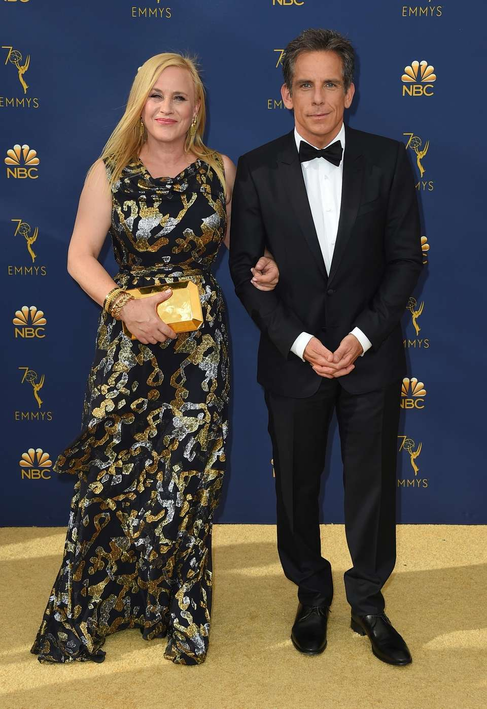 Patricia Arquette and Ben Stiller arrive for the