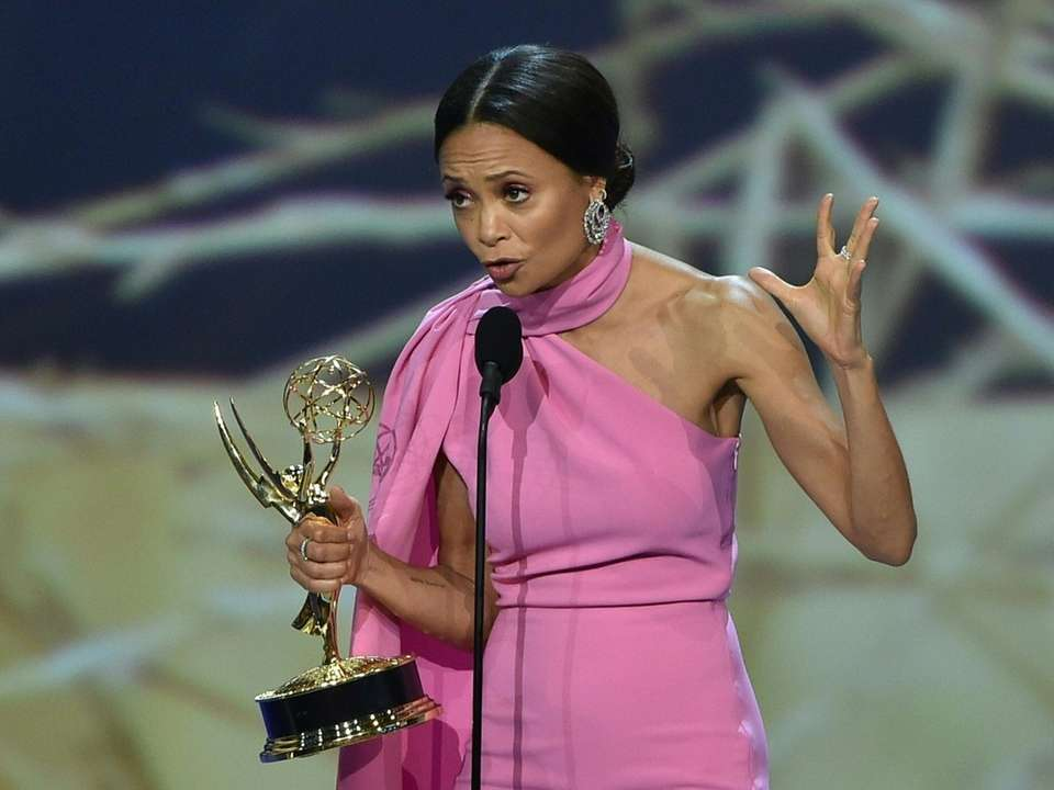 Thandie Newton accepts the Outstanding Supporting Actress in