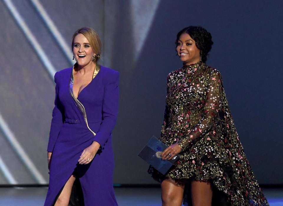 Samantha Bee, left, and Taraji P. Henson onstage.