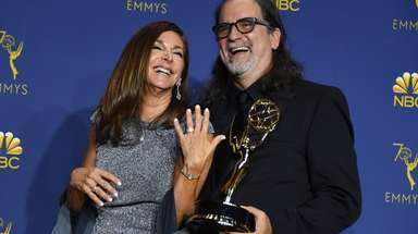 Glenn Weiss, right, winner of the award for