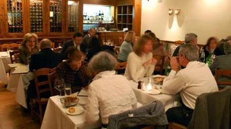 The dining room at i Trulli in Manhattan