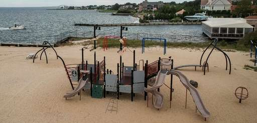 A playground at the Bay Shore Marina Park
