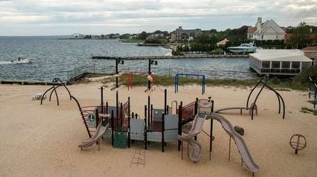 A playground at the Bay Shore Marina Park