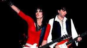 "Joan Jett and Kasim Sulton in ""Bad Reputation,"""