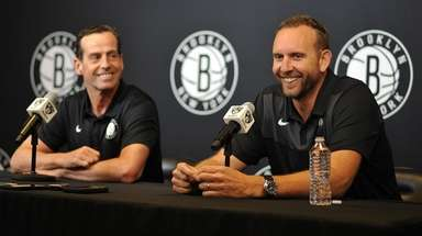 Brooklyn Nets Coach Kenny Atkinson General Manager Sean
