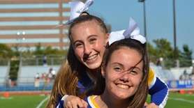 Kellenberg Memorial High School cheerleaders hang out during