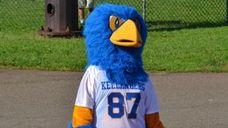 Kellenberg Memorial High School's Firebird celebrates the school's