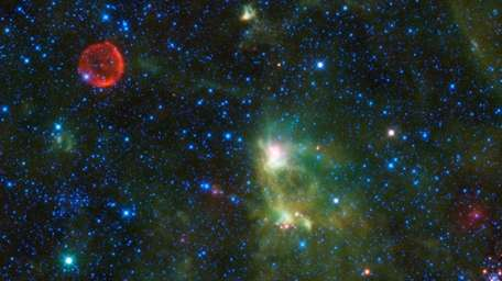 This image provided by the NASA/JPL-Caltech/WISE Team shows