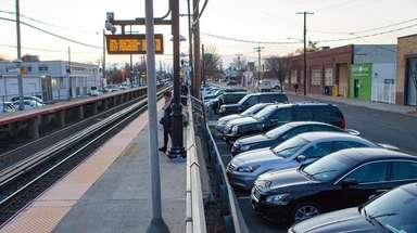 Parking spots near the LIRR station at New