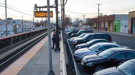 Parking spots near the Long Island Rail Road