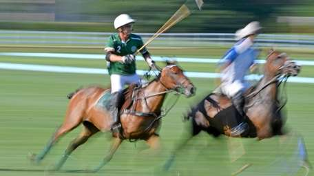 Polo action at the Meadowbrook Polo Club in