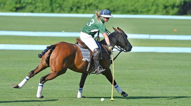 Emma Joinnides of Islip during a polo match