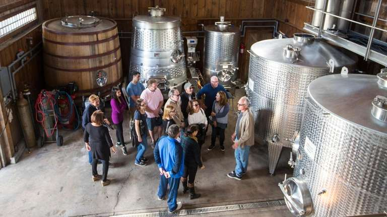A tour of explaining barrel aging and fermentation