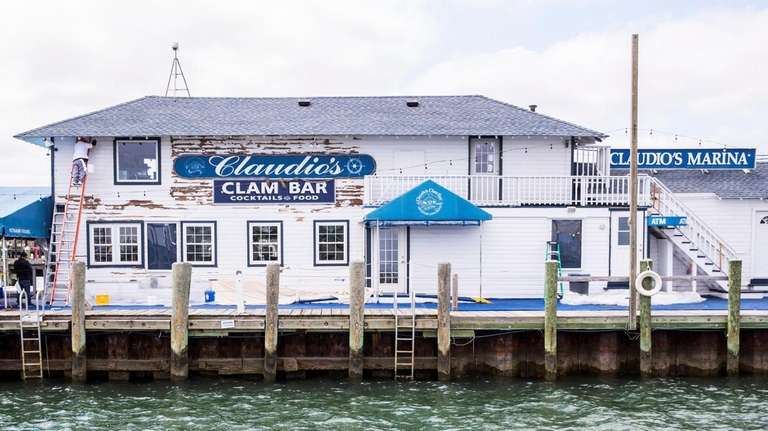 Claudio's Clam Bar, on the  Greenport waterfront,