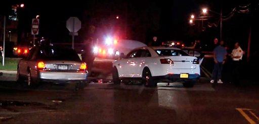 The scene of the crash on Mount Avenue