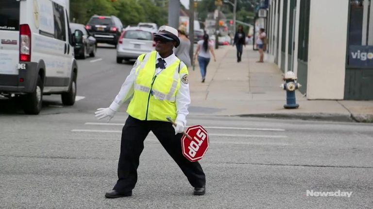 Shirley Cunningham, a 14-year-veteran school crossing guard in