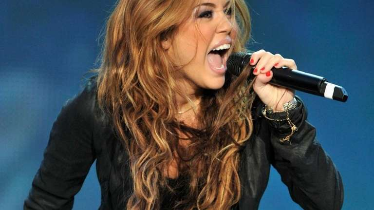Singer Miley Cyrus performs at the ''Rock in