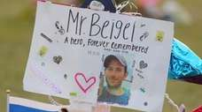 A memorial for geography teacher and cross-country coach