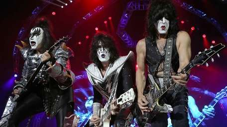 Gene Simmons, Tommy Thayer and Paul Stanley of