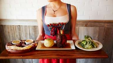 An assortment of specialties at Das Biergarten in