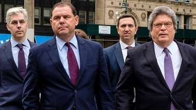 Joseph Percoco, second from left, and his legal