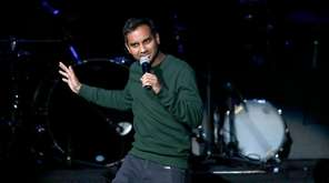 Comedian Aziz Ansari performs at the Obama Foundation