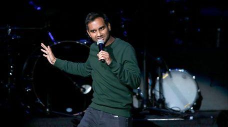 Comedian Aziz Ansari performs at the Obama Foundation
