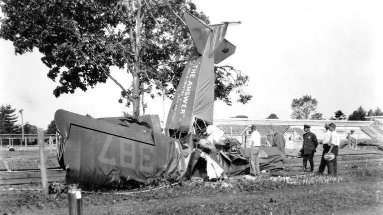 The plane, The Answer, crashed at Hicks Nurseries